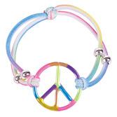 60s & 70s Favors & Prizes Elastic Rainbow Peace Bracelets Image