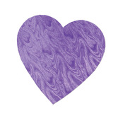 "Valentine's Day Decorations 4"" Embossed Purple Heart Cutout Image"