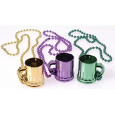 Mardi Gras Party Wear Mardi Gras Mug Necklaces Image
