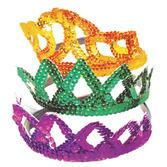 Mardi Gras Hats & Headwear Mardi Gras Sequin Tiaras Image