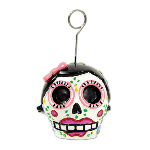 Day of the Dead Decorations Day of The Dead Female Photo/Balloon Holder Image