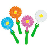 Easter Favors & Prizes Daisy Shaped Hand Clappers Image