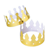 Mardi Gras Hats & Headwear Gold Foil King's Crown Image