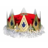 Mardi Gras Hats & Headwear Queen's Crown Red Velour Image