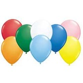 """New Years Balloons 11"""" Assorted Standard Balloons Image"""