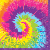 60s & 70s Table Accessories Tie Dye Swirl Beverage Napkins Image