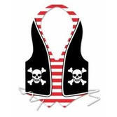 Pirates Party Wear Pirate Plastic Vest Image