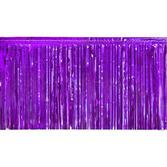 Mardi Gras Decorations Purple Metallic Fringe Drape Image