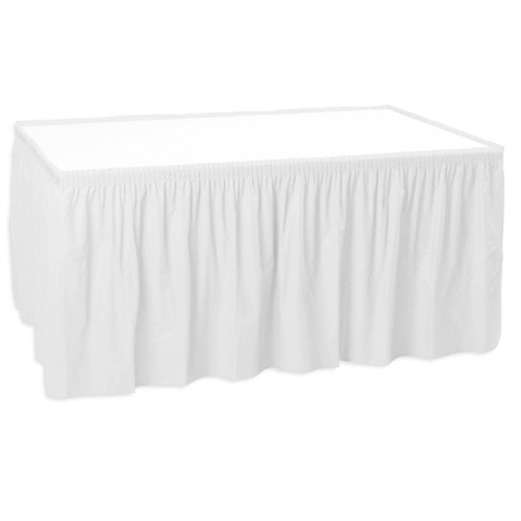 Wedding Table Accessories White Table Skirt Image