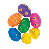Easter Favors & Prizes Jumbo Printed Easter Eggs Image