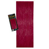 Valentine's Day Decorations Burgundy Metallic Fringe Curtain Image