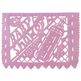 Baby Shower Decorations Large Girl Baby Shower Paper Picado Banner Image