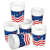 4th of July Table Accessories Patriotic Plastic Cups Image