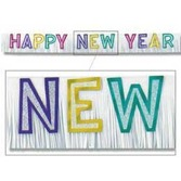 New Years Decorations New Year's Multicolor Banner Image