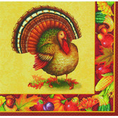 Thanksgiving Table Accessories Festive Turkey Lunch Napkins Image