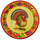 """Thanksgiving Table Accessories Festive Turkey 9"""" Plates Image"""