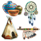 Thanksgiving Decorations Indian Cutouts Image