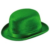 St. Patrick's Day Hats & Headwear Green Vel-Felt Derby Image
