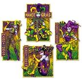Mardi Gras Decorations Masquerade Mime Cutouts Image