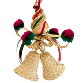Christmas Decorations Hanging Wicker Bell Image