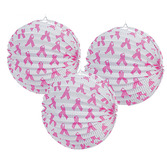 Decorations Pink Ribbon Paper Lanterns Image