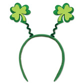 St. Patrick's Day Party Wear Glittered Shamrock Bopper Image