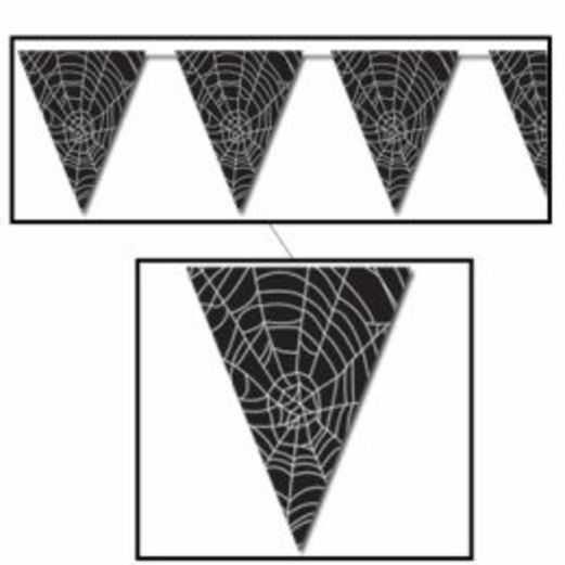 Halloween Decorations Spider Web Pennant Banner Image