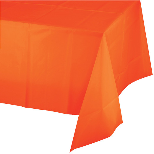 Halloween Table Accessories Rectangular Table Cover Orange Image