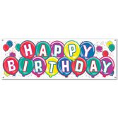 Birthday Party Decorations Happy Birthday Banner Image