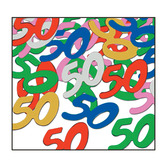 "Birthday Party Decorations ""50"" Confetti Multicolor Image"