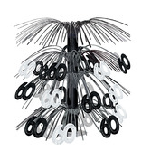 Birthday Party Decorations 60th Black & Silver Cascade Centerpiece Image