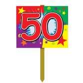Birthday Party Decorations 50th Birthday Yard Sign Image