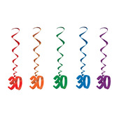 Birthday Party Decorations 30 Whirls Image