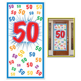 Birthday Party Decorations 50th Door Cover Image