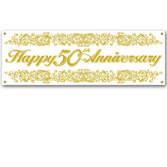 Anniversary Decorations 50th Anniversary Banner Image