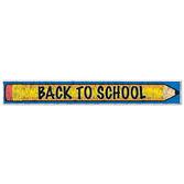 Back to School Decorations Metallic Back to School Fringe Banner Image