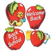 Back to School Decorations School Days Apple Cutouts Image