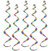 New Years Decorations Striped Twirly Whirls Image