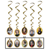 Back to School Decorations Faces in History Whirls Image