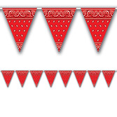 Western Decorations Western Pennant Banner Image