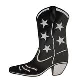 Western Decorations Black Foil Cowboy Boot Cutout Image