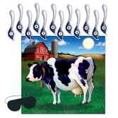 Western Decorations Pin the Tail on the Cow Game Image