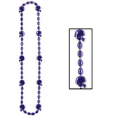 Sports Party Wear Football Beads Purple Necklace Image