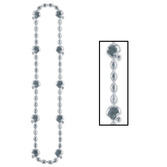 Sports Party Wear Football Beads Silver Necklace Image