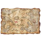 Pirates Decorations Plastic Treasure Map Image