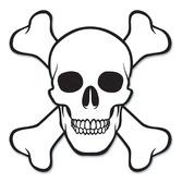 Halloween Decorations Skull Crossbones Cutout Image
