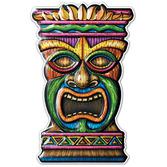 Luau Decorations Tiki 3-D Plastic Cutout Image
