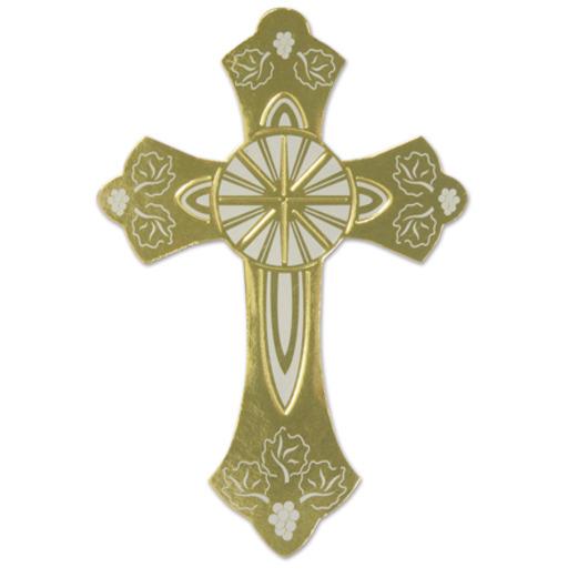 Easter Decorations Gold Foil Cross Cutout Image