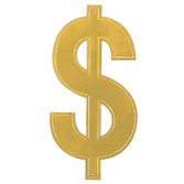 Casino Decorations Gold Foil Dollar Sign Cutout Image