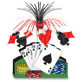Casino Decorations Playing Card Centerpiece Image